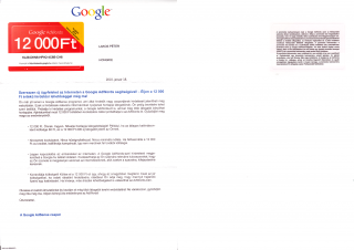 Google AdWords Failed Mail: Kupon