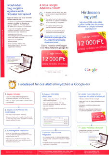 Google AdWords Failed Mail: Hirdessen ingyen!