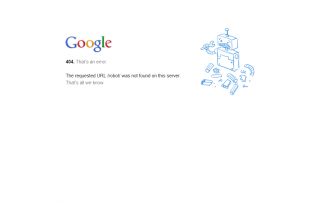 Google: 404. That's an error.